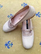 John Lobb Ltd Bespoke Women Shoes Beige Suede Snakeskin UK 6 US 8 EU 39 Ladies