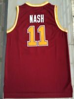 Steve Nash #11 Santa Clara Men Basketball Swingman Jersey Stitched Red S-2XL