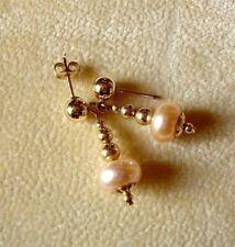 Natural Pearl Drop/Dangle Costume Earrings