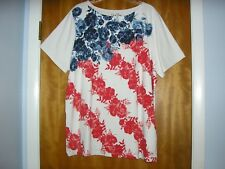 Coral Bay Red/White/Blue Patriotic Top 2X