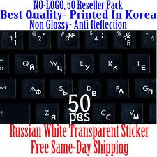 Russian White Keyboard Transparent Sticker Printed In Korea.50pcs DEAL!!