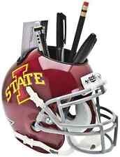 IOWA STATE CYCLONES NCAA Schutt Mini Football Helmet DESK CADDY