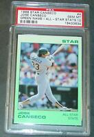 RARE 1988 STAR #7 JOSE CANSECO GREEN NAME ALL STAR STATS GEM MINT 10 POP 1/1