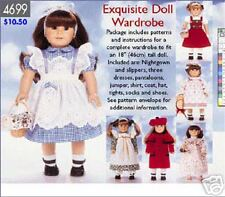 """Reduced!  Butterick 4699 18"""" Doll Clothes Pattern"""