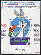 BUGS BUNNY Cartoon Cavalcade__Original 1988 Trade print AD / promo__Warner Bros.