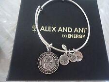 Alex and Ani SAINT CHRISTOPHER Russian Silver Charm Bangle NWT Card & Box
