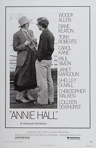 Annie Hall 1977 Vintage Movie Poster A0-A1-A2-A3-A4-A5-A6-MAXI 420