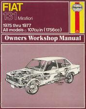 FIAT 131 MIRAFIORI 1975 - 1977 OWNERS WORKSHOP MANUAL HAYNES MANUAL 370