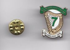 """Hibernian """" The Magnificent Seven """" - lapel badge butterfly fitting"""