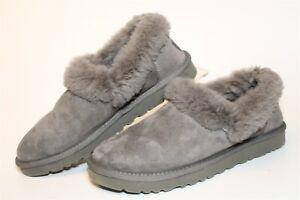 UGG Womens Size 7 38 Nita Suede Shearling Flat Slippers Shoes 1011894