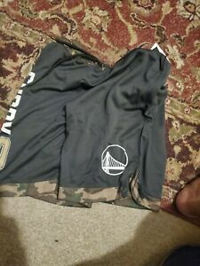 Brand New NBA Golden State Warriors CAMO Stephen Curry Basketball Shorts Medium