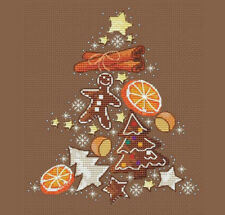 Christmas Gingerbread Tree # ,Cross Stich Pattern