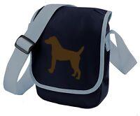 Patterdale Terrier Silhouette (Full Body) Mini Reporter Bag Dog Walker Xmas Gift