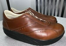 MBT Walking Shoes Volcano Leather Brown Fitness Workout Toning Rocker Mens 10
