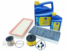 PEUGEOT 407 2.0 HDI 04 TO FEB 07 OIL AIR FUEL CABIN FILTER 6L OIL SERVICE KIT