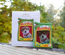 2012 Hallmark Keepsake Ornament Best Dog Food Bag Photo Holder Frame Puppy