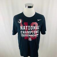 Nike Florida State Seminoles FSU 2013 National Champions Black T-Shirt Mens XL