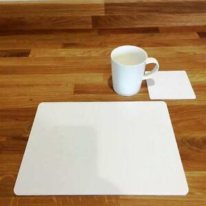 """Rectangle Shaped White Gloss Acrylic Placemats - 11.5x8.5"""" or 16x12"""""""
