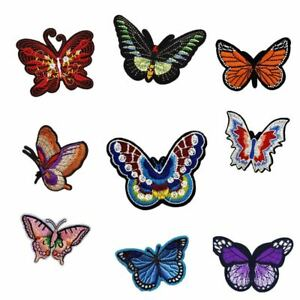 Cute Embroidered Sew On Applique Patches for Clothing Repair and Decoration Assorted Colors Including 12PCS Butterfly Patches and 13PCS Love Heart Patches JZHBEI Iron On Patches