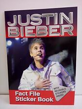 Justin Bieber: Fact File Sticker Book WITH REUSABLE STICKERS INSIDE