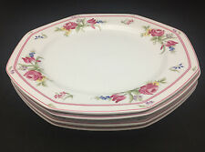 Avignon by Chrsitopher Stuart Dinner Plates - Set of 4 - Octagonal with floral