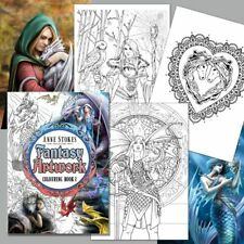 *ANNE STOKES COLOURING BOOK 2* Fantasy Art With Fairies Dragons Angels Unicorns