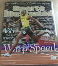 Usain Bolt Autographed Olympic Sports Illustrated 11X14 photo Jsa Coa
