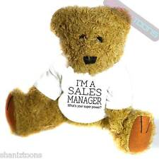 Sales Manager Novelty Gift Teddy Bear