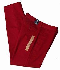Mens J Crew Sutton Pants Red Flat Front Slim Fit Size 31 X 32
