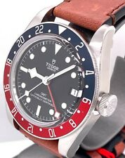 TUDOR Black Bay Pepsi GMT 41mm Watch Leather Strap 79830RB -  Factory Warranty!