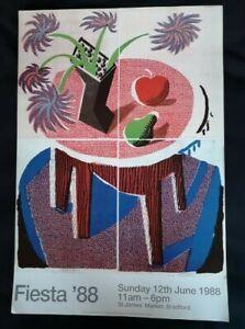 Vintage Original David Hockney Poster Fiesta 1988