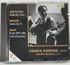Henryk Szeryng Eugenio Bagnoli Beethoven Brahms Bach CD