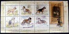 1999 ARGENTINA DOG STAMPS SHEET OF 6 BOXER COLLIE SHEEPDOG ST. BERNARD HUSKY