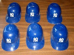 Set 6 New York Yankees ICE CREAM SUNDAE HELMET Baseball Mini Snack Bowl Helmets