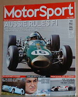 Tom Sneva,Jean Alesi,50 years of Mallory Park May 2006 MotorSport UK Magazine