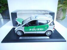 Maisto 1:18, Mercedes-Benz A-Klasse (W169) polizei dealer box model neu ovp