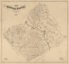 1861 SLAVE MAP BRAZOS WASHINGTON BURLESON ROBERTSON LEON MILAM WHARTON COUNTY TX