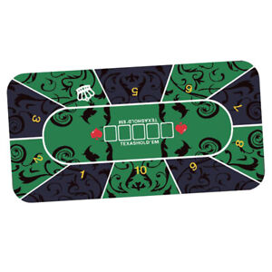 Poker Table Layout Tabletop Mat Anti-slip Rectangle Table Top Pad Felt Cover