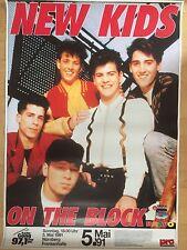 NEW KIDS ON THE BLOCK 1991 NÜRNBERG  -  orig.Konzert Concert Poster  A1