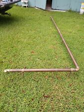 "Salvaged vintage brass Bar foot rest rail 16' total length 2"" diameter 1930s"