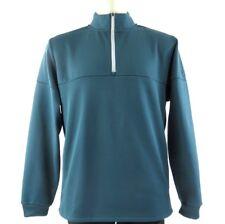 Adidas climaworm L fleece pullover sweatshirt zip up V Neck turquoise shirt