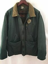 URBAN EQUIPMENT Green Tan Jacket Coat Size Small Sherpa Quilted Full Zip