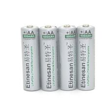 4 pcs 3.2V LiFePO4 lithium 14500 AA Rechargeable Battery 600mAh Real capacity !
