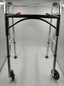 WA009 DRIVE MEDICAL MOBILITY - FOLDING WALKING FRAME Max 28 stone UNUSED  QR 36