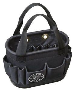 Aerial Bucket Hard-Body Lineman 29 Pockets Heavy Duty Oval Bag Klein Tools 51