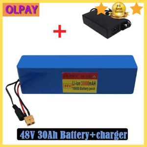 NEW 48V 30Ah E-bike Li-ion Battery Bicycle Rechargeable Electric 1000W + Charger