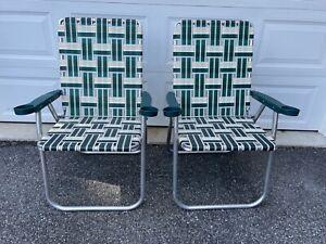 2 Vintage  Millennium by Ashley Folding Lawn Patio Arm Chair Made is U.S.A.
