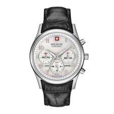 Swiss Military Hanowa Damen Leder Armbanduhr Chronograph Datumanzeige 10 ATM