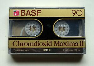 1x BASF Chromdioxid Maxima II 90 Cassette Tape 1982 + OVP + SEALED + Version 1 +