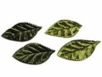 80 Padded 2-Faced Satin Velvet Leaf Appliques/craft